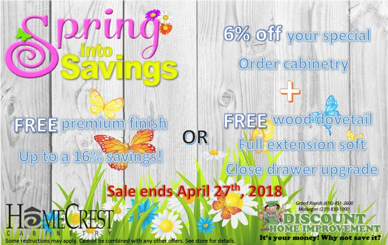 discount home improvement spring sale